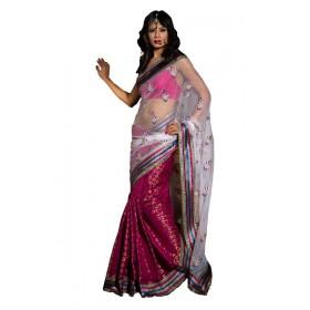 Traditional Net Fabric Sharee