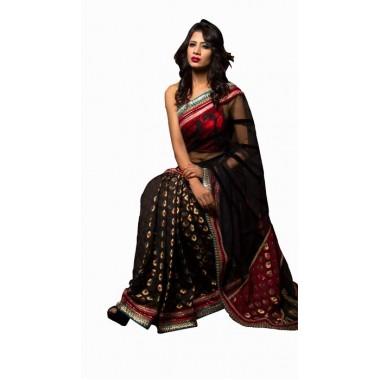 Pure katan Fabric Saree