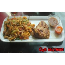 Chicken Steak With Thai Noodles