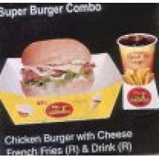 Chicken burger with cheese from BFC