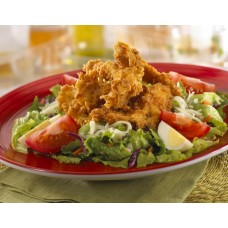 Fried Chicken with Green Salad