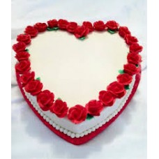 Heart shape cake from Purbani