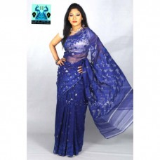 Blue jamdani Sharee for wedding ceremony