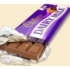 Cadbury's Dairy Milk Chocolate (2 pcs-145 gm)