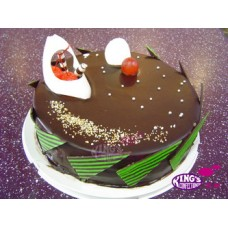 Chocolate Coating Round Shape Cake