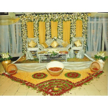 Nice wedding stage decoration service