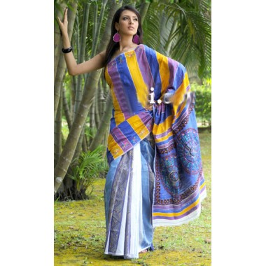 A Beautiful cotton sharee for birthday gift