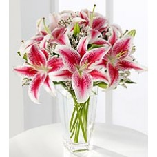 Send lili flower bouquet for valentine day