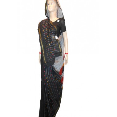 Tangail Black Cotton Sharee