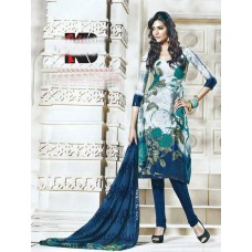 Silk salwar kameez with stone work