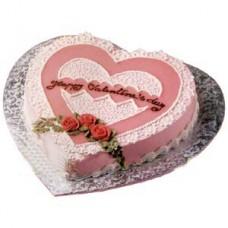Shumis heart shape valentine's day cake gift bangladesh