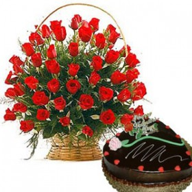 Swiss Cake and Roses for Mother
