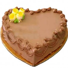 Mother's Day Special Heart Shape Chocolate Cake