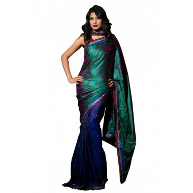 Traditional Blue Party Saree