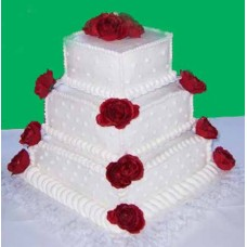 Mother's Day Special 3 Tiar Square Shape Cake