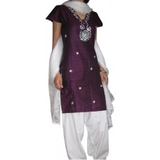 Purple colordhupiyan three piece