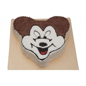 Vanilla Mickey Mouse Face Cake(2 Kg)