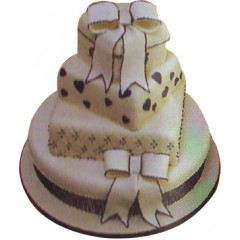 2 Tier Wedding Cake- Nutrient Cake & Pastry Shop