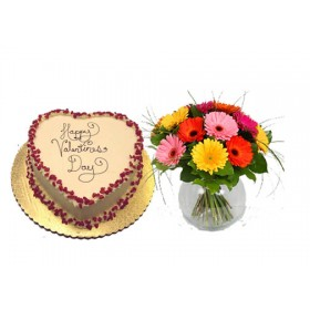 Cake with flower gift to Bangladesh