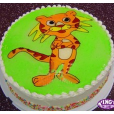 Tiger Cartoon Piping Jelly Cake gift to Bangladesh-1kg