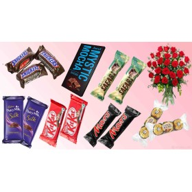 Special chocolate's combo with flowers