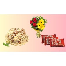 Tehari combo for 3 person with chocolate and flower combo