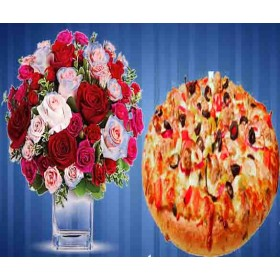 20 Roses With a Beef Kalavuna Pizza