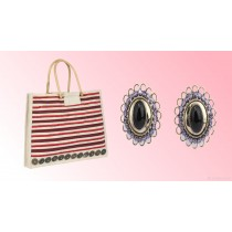 Jute Bag & Ear Ring