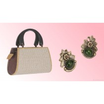 Jute Weaved Bag & Ear Ring