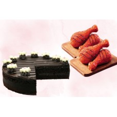 Tiamaria Cake (1 Kg) With Smoky Red Chicken Combo