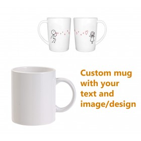 Mug with own text or design for valentine day