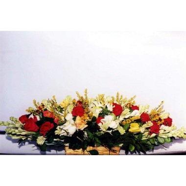 flower basket with different flower