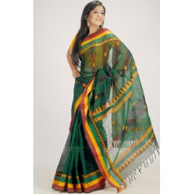 Send Green color silk sharee gift in Poheha boishakh