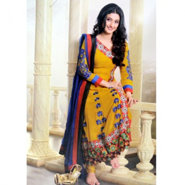 Yellow salwar kameez for her